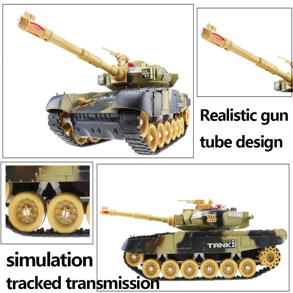 44CM RC War Tank radio tank Tactical Vehicle Main Battle Military Main Battle Tank Model Sound Recoil Electronic Hobby boy toys