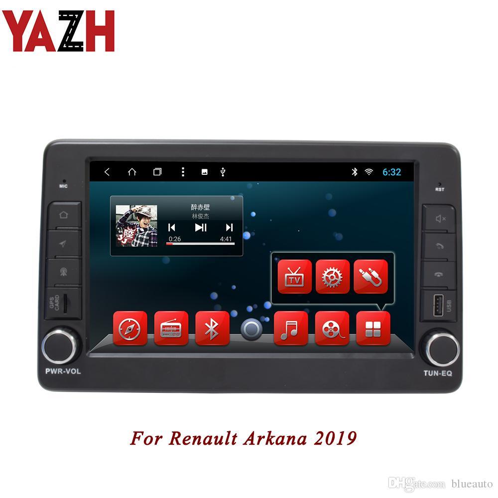 YAZH 인 - 대시 르노 Arkana 2019 년의 경우 안드로이드 8.1 자동차 헤드 유닛은 9.0 인치 IPS 디스플레이 자동차 DVD 플레이어를 autoradio