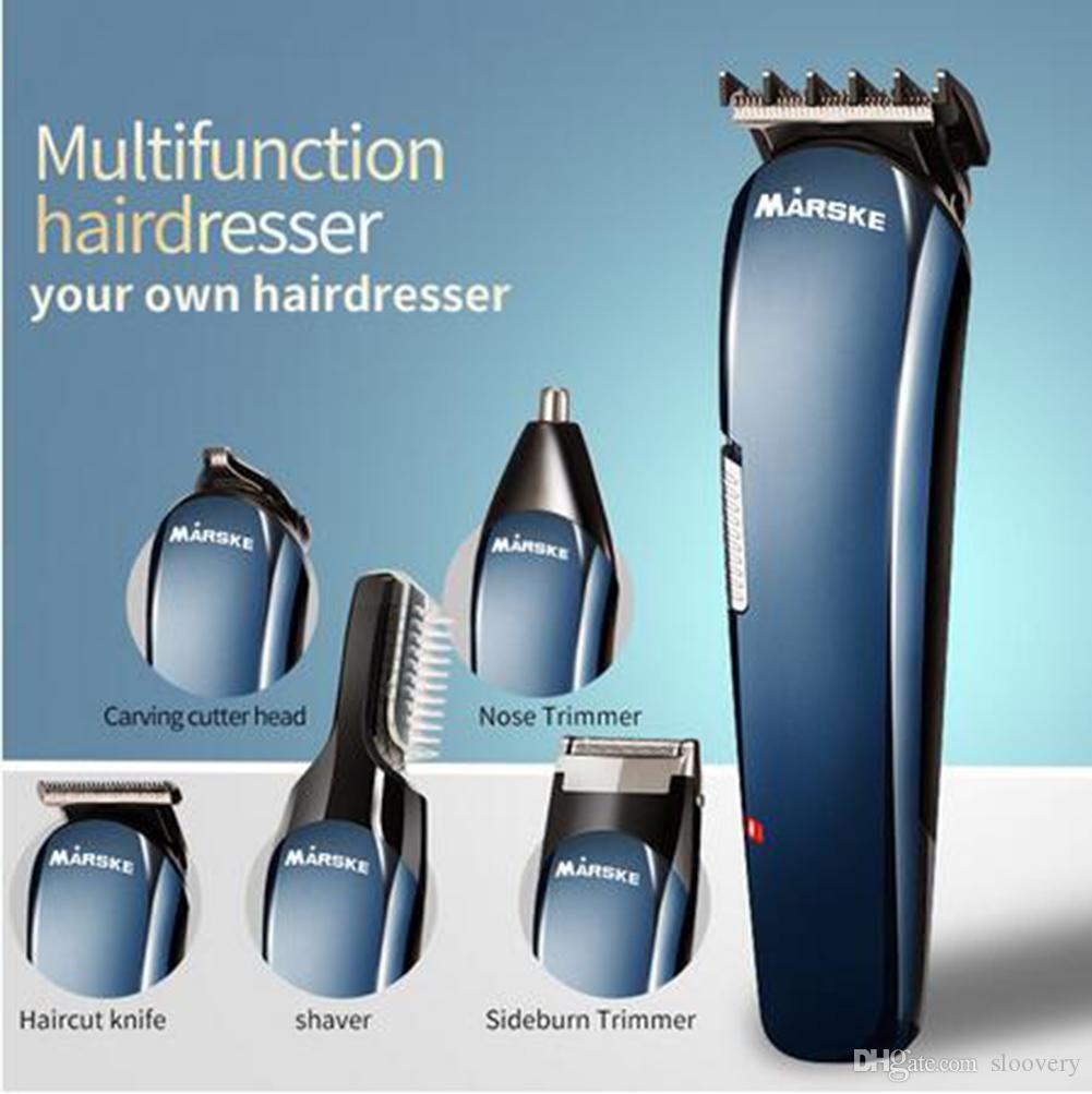 ماكينة حلاقة رجالية كهربائية قابلة للشحن ، 5 في 1 ، ماكينة حلاقة الشعر ، ماكينة حلاقة شعر الأنف ، ماكينة حلاقة للرجال ، العناية بالوجه مع حامل