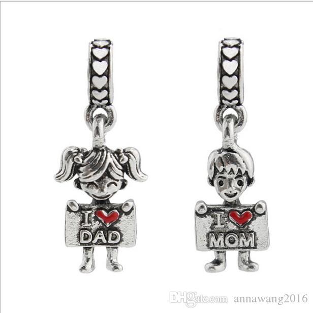 pandora charms mom and dad