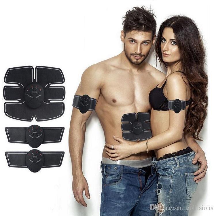 جهاز لاسلكي مدلك الذكية EMS البطن التدريب المكثف ABS الجسم النحت المشكل التخسيس مدلك الكهربائي
