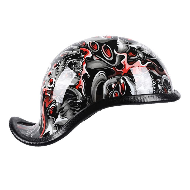 New Motorcycle Helmet Open Face Retro Half Motorbike Helmet Motorcycle Racing Off Road Casco Moto Capac,HZYEYO,H-998