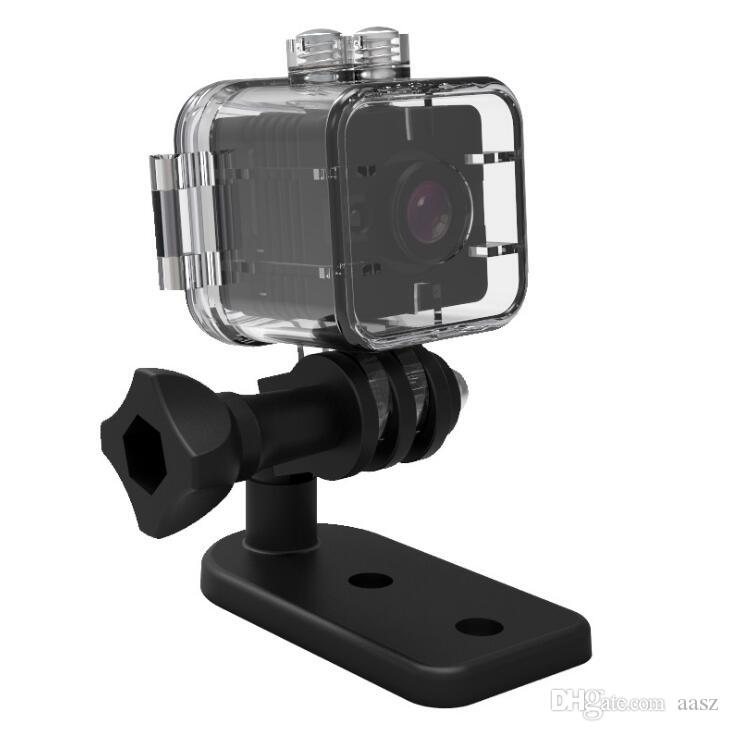 50 قطع sq12 مصغرة كاميرا الاستشعار للرؤية الليلية كاميرا فيديو الحركة dvr hd 1080 وعاء مايكرو كاميرا ماء شل الرياضة فيديو كاميرا صغيرة