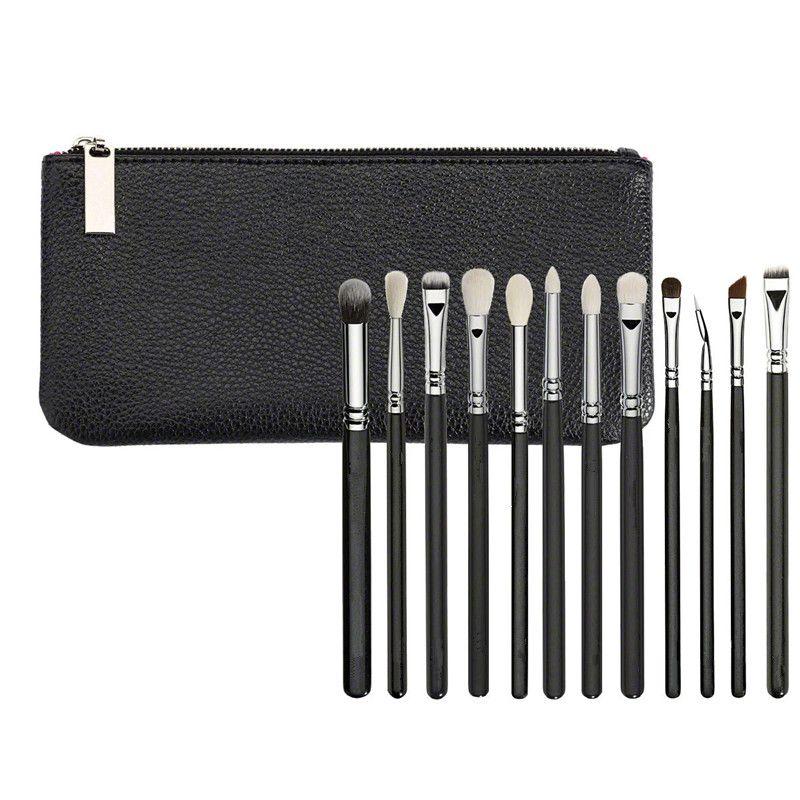 브러쉬 메이크업 화장품 도구 12PCS / SET 전체 가방 키트 세트 전문 주최자 가방 여행 작은 대형 12 얼굴 브러쉬