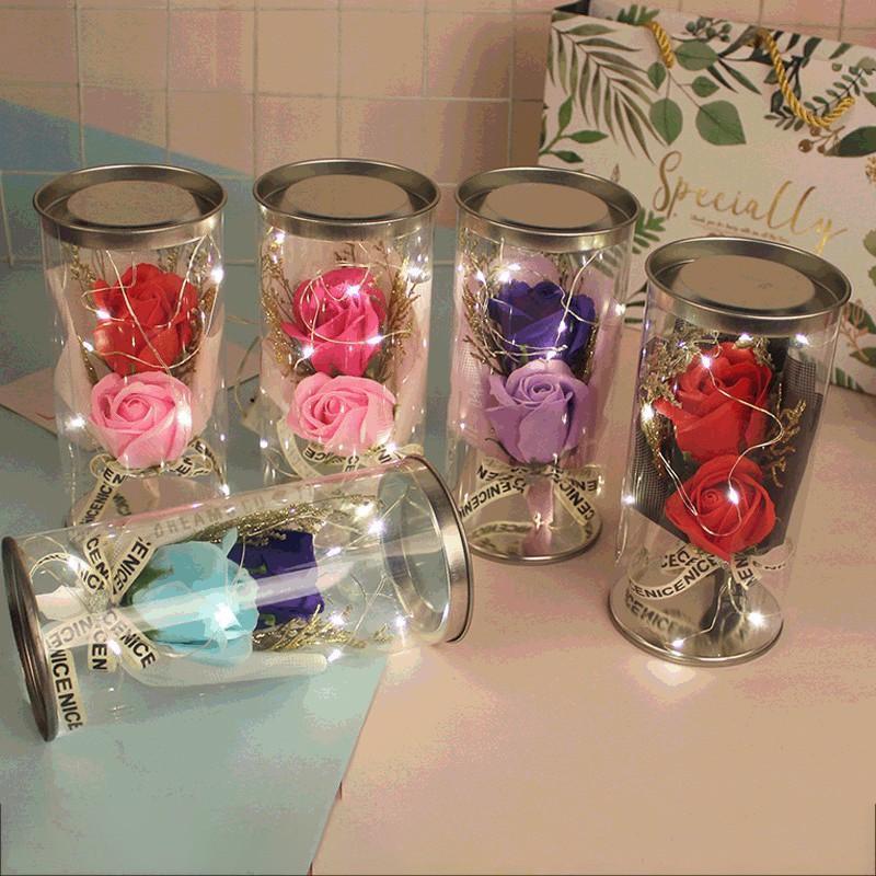 بقيادة الصابون الورود أضواء الاصطناعي الزهور باقة من الزهور الورود الجميلة لذكرى عيد الحب الجديد