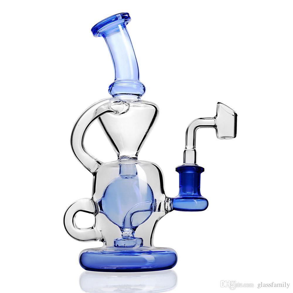 Recycler Bong Avec Inline Perc Dab Rig Bongs Eau Glass Bubbler tourbillonne bong vortex conduites d'eau Tuyau en verre capiteux toro hitman cire barboteur