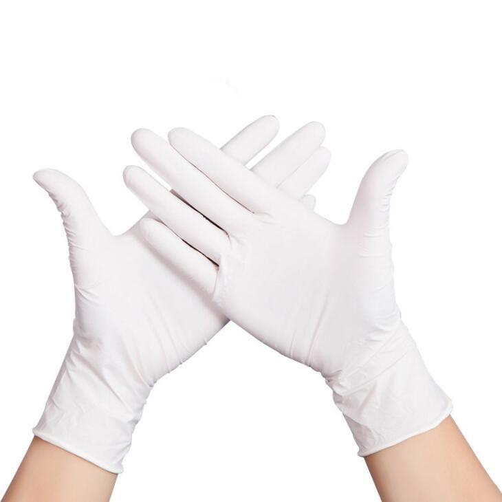 Luvas descartáveis de borracha nitrílica de 9 polegadas Sem pó Hemp dedo de borracha nitrílica Luvas Luvas Salon domésticos Universal Para Esquerda e Direita LX1342 Mão