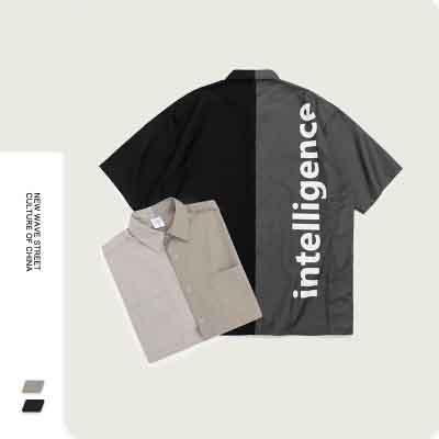 Mens Designer T-shirt Costume Casual Personnalité Hip-hop Mode Tendance à deux hommes Outfit COMBI jeune Style Étudiant Beau Top Quanlity