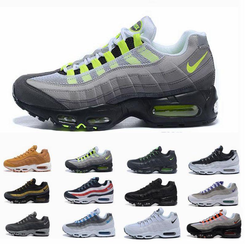 2019 hommes 95 OG Cushion Marine Sport Nike Air Max 95 de haute qualité Chaussure 95s Bottes de marche Hommes Chaussures de course Cushion 95 Sneakers