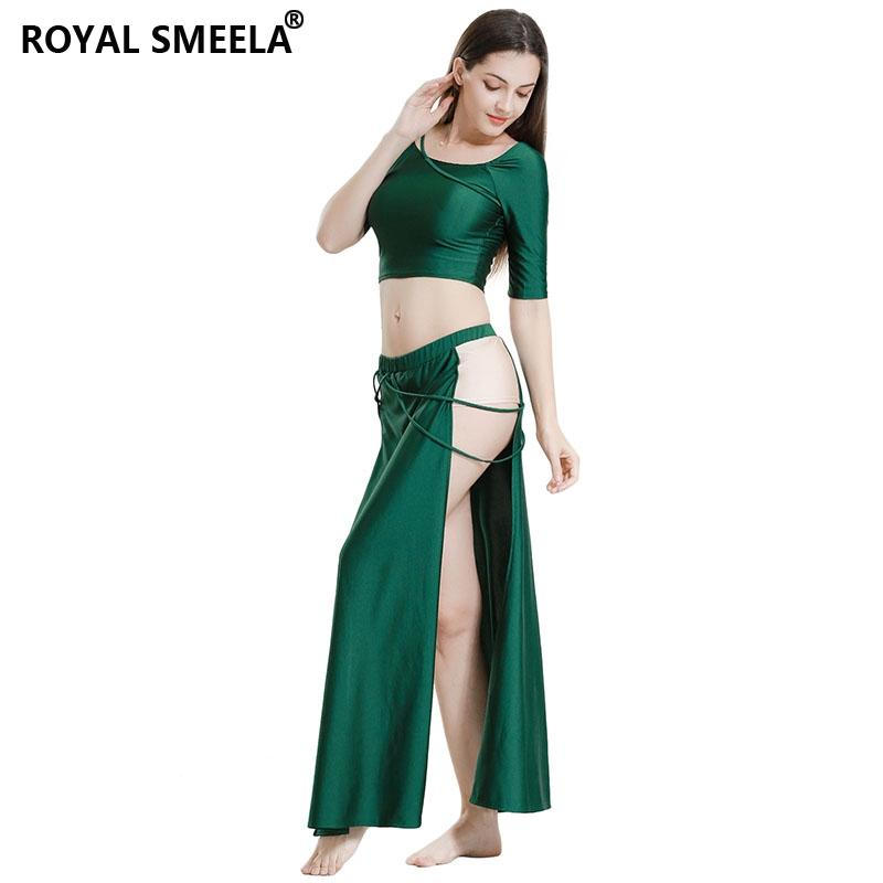 New Belly Dance Clothes Suit Autumn Winter Dance Skirt Long Split Sleeve Top Skirt Girls Sexy Costumes 7819