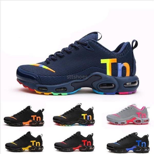 2019 Off New Black Rainbow Air Mercurial Plus Tn Ultra SE KPU White Running Shoes Increased Ventilation Trainers Chausseures Designer Shoes