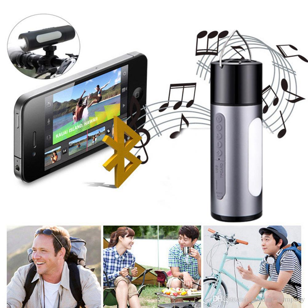 Bluetooth Speaker Waterproof Stereo Wireless LED Speakers Flashlight Power Bank Portable Subwoofer Car MP3 Player Free DHL