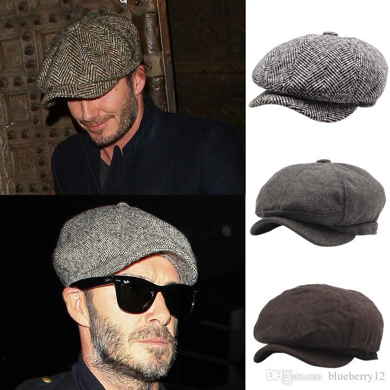 Hommes Bérets Mode adulte Hot vente Cap Newsboy Baker Boy Chapeau plat avec 3 couleurs