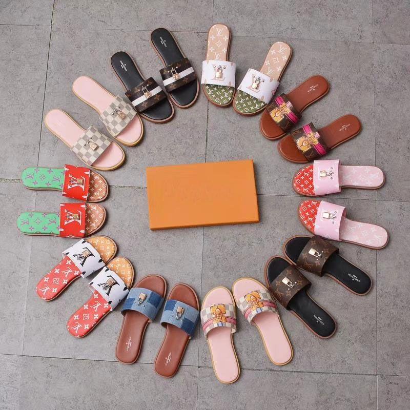 2019 New Summer Beach Cork Slipper Flip Flops Sandalen Frauen Mixed 8 Farben-beiläufige Slides Schuhe Flache Kostenloser Versand 35-45 L9889