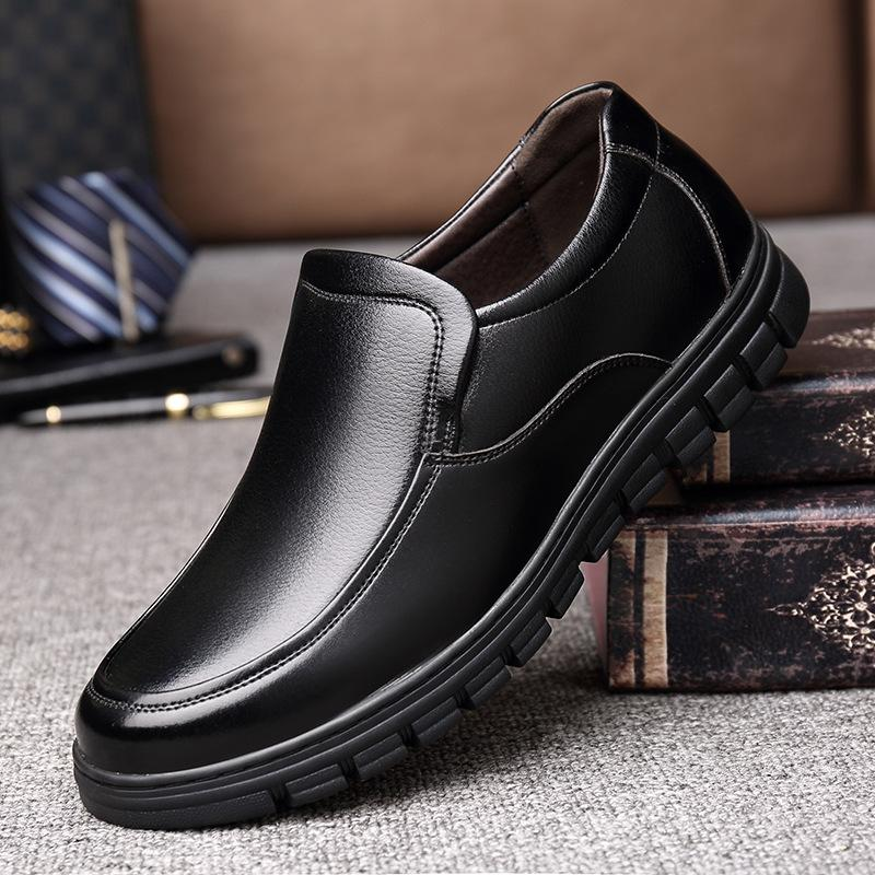 large size men casual business wedding formal dress genuine leather shoes slip-on lazy shoe breathable loafers zapatos de hombre