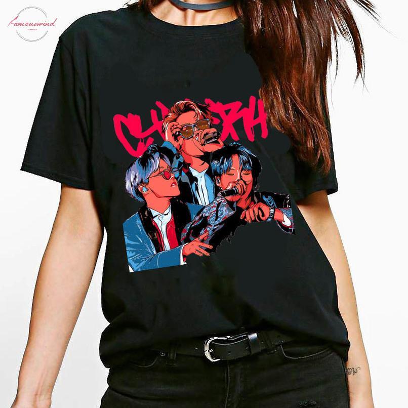 한국어 T 셔츠 2020 폭발 모델 여자 여름 O 목 T 셔츠 품질 여성 하라주쿠 여성 T 셔츠 짧은 소매의 힙합