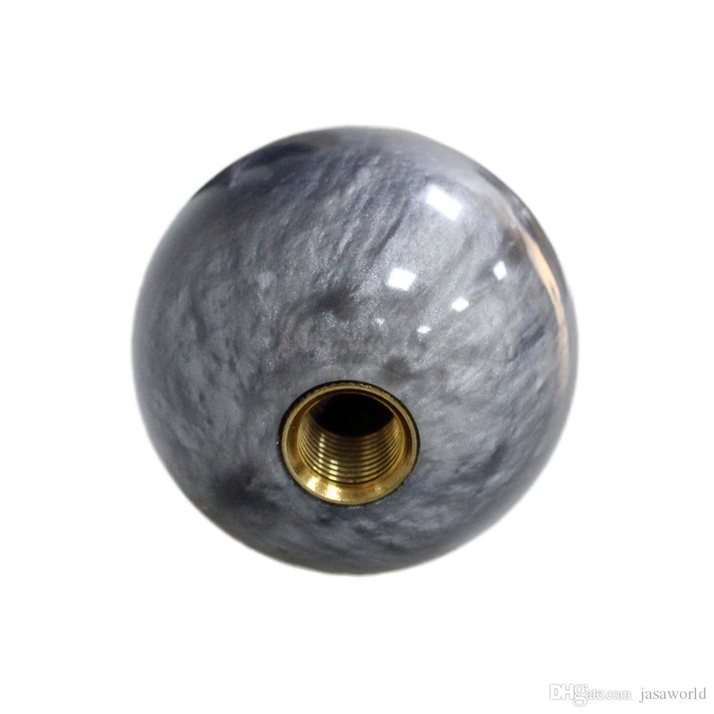 Pearl Shift Knob Gear Knob GRAY Ball Type for AT MT Shifter 3 Types Adapters Auto Styling Cool Funny Automobile Acessories Popular Hit Car P