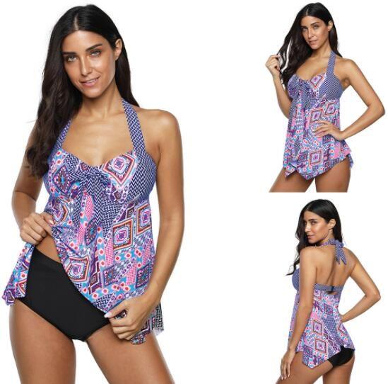 Design Big Fat plus plus la taille jupe maillots de bain en forme jupe fendue maigre ourlet irrégulier angle plat split maillot de bain de style souple ensembles Bikinis