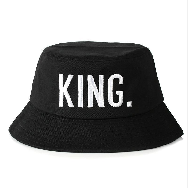 2020 Black King Queen Cap For Lovers Men Women Fisherman Hat Outdoor Streetwear Bucket Hat Couple From Teramont 26 64 Dhgate Com