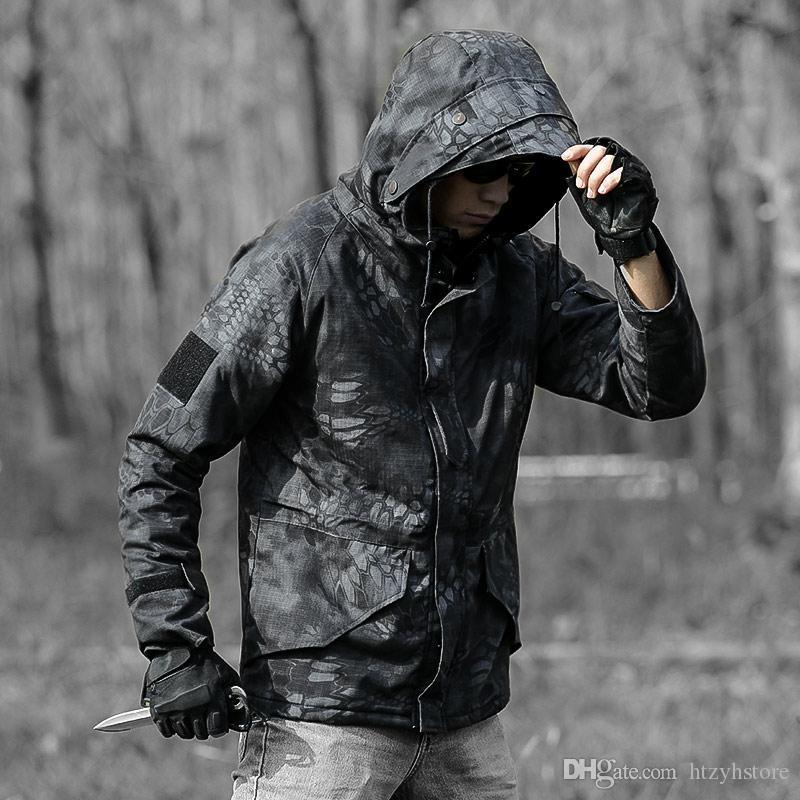 Jacket ht Hunting Inverno Homens Tático de Combate Brasão impermeável jaqueta corta-vento Casaco Masculino Jackets Men