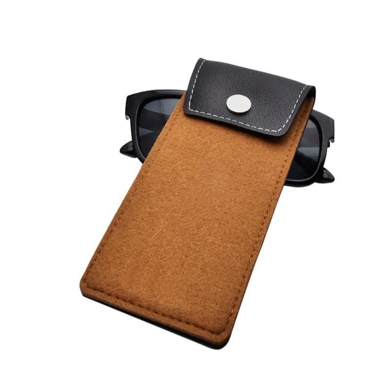 de laine en cuir léger Lunettes de soleil Sac de lunettes de cas pour les femmes hommes Lunettes Pouch Spectacle sac en tissu Sunglass Pouch