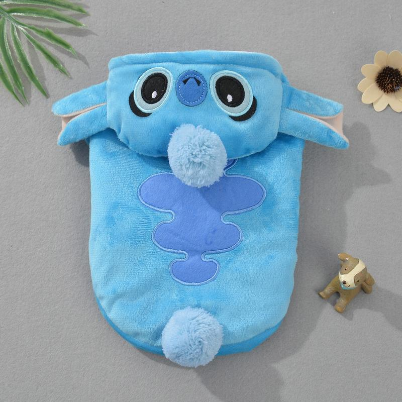Fund Pets Clothes Shi Di Strange Thickening Keep Warm Cartoon Gogo Cotton-padded Clothes Halloween Change Body Suit