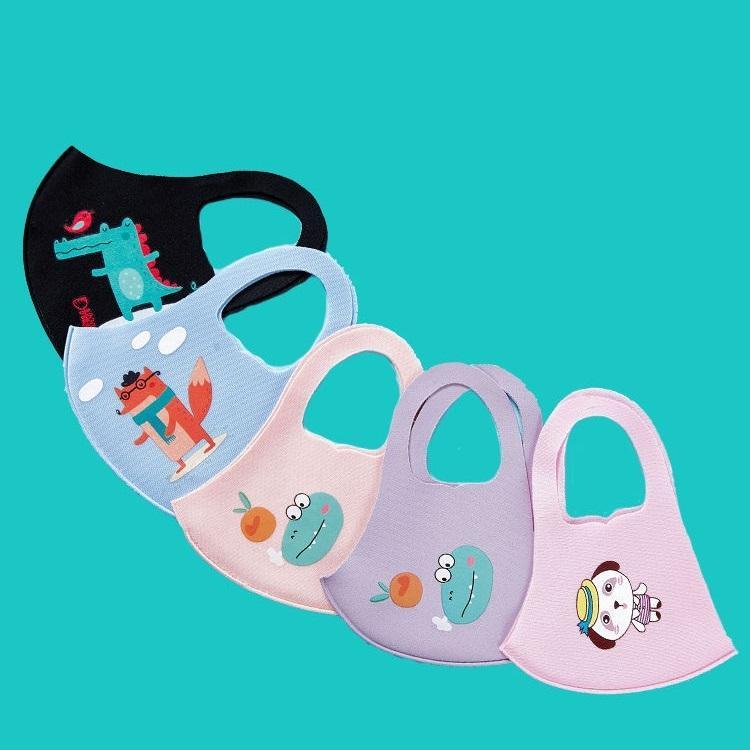 Crianças crianças Máscaras meninos e meninas Impresso protetor solar Primavera e Verão Fina Seção Tide Modelos contra pó respirável lavável XHH9-2997