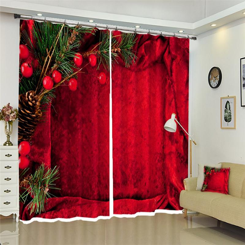 2020 Customizable Modern 3d Blackout Curtains Christmas Red Wall Theme Pattern Thicken Bedroom Curtains For Living Room From Tinaya 37 76 Dhgate Com