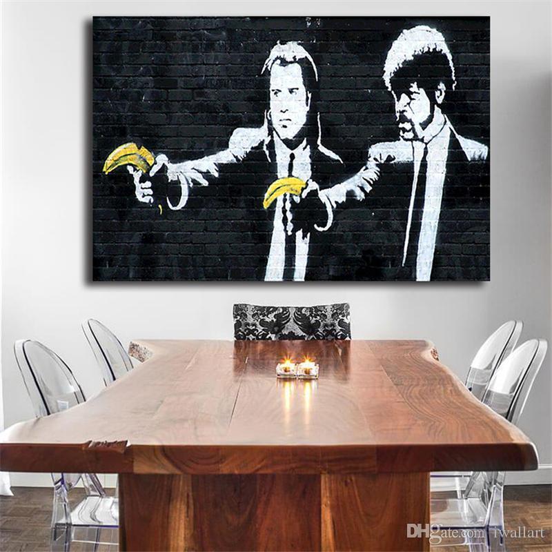 بانكسي آرتي أوربانو خلفيات hd جدار الفن قماش المشارك وطباعة قماش اللوحة الزخرفية صورة ل غرفة المعيشة ديكور المنزل