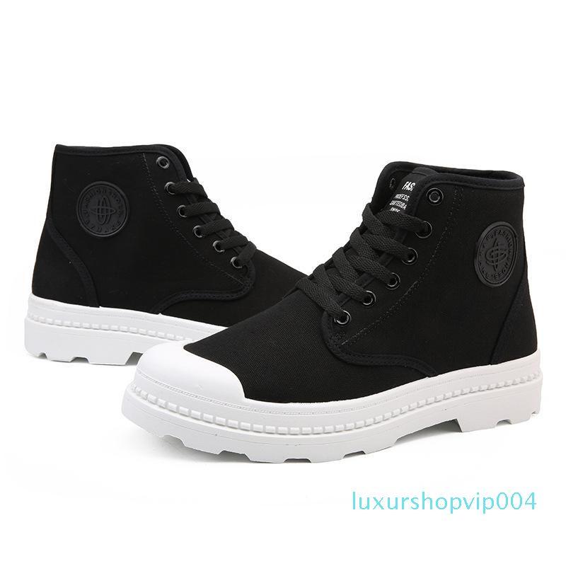 Autumn Martin Shoes Men's Boots Winter Korean Edition Fashion Shoes High Up Canvas