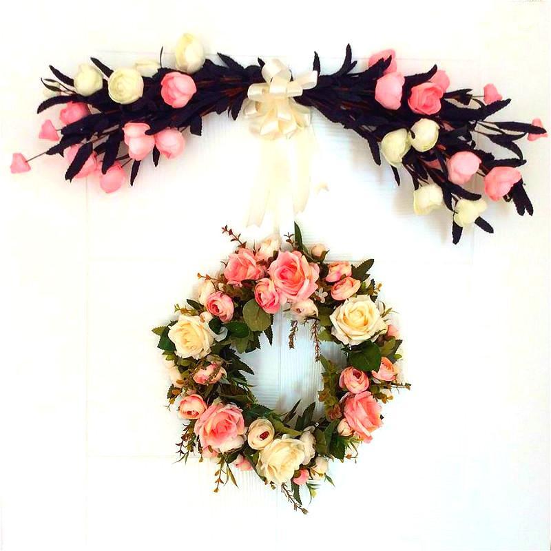 Floreale fiore di simulazione insieme semplice soggiorno rosa ornamenti floreali decorativi fiori decorativi fiori di seta fiore