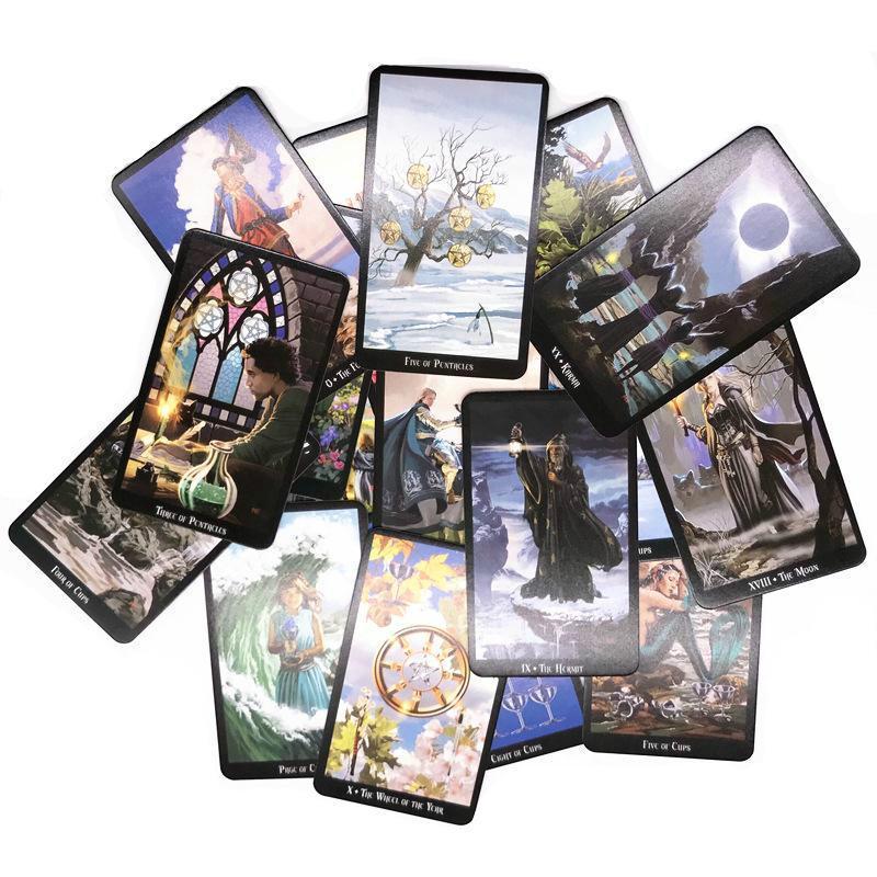 Renkli Box ile İngilizce Sürüm Tarots Cadı Rider Smith Waite Shadowscapes Vahşi Bilinmeyen Tarot Güverte Kurul Oyun Kartları