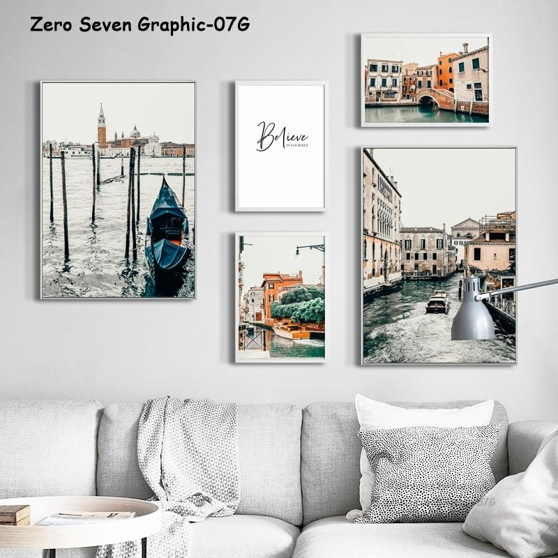 Vintage Venice Tourist Landscape Photos Canvas Poster And Print Picture Gallery Wall Art For Modern Living Room Decoration