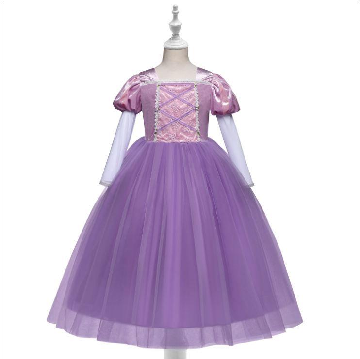 девушка платье Маленькой девочки одежда мода весна осень одежда Cute платья для нового года Горячих продаж