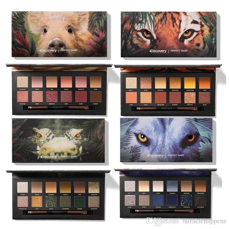 Top sale New Perfect Diary Beauty Explorer 12 Colors Animal Eyeshadow Palette Shimmer Matte Eye shadow Eyes Makeup Cosmetics 4 Styles