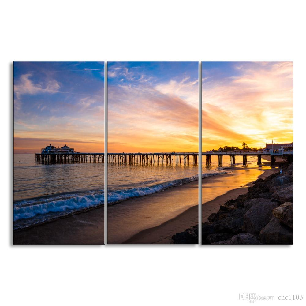 3 pieces of HD print submarine surface canvas painting poster and wall art living room picture HDBM3-1L