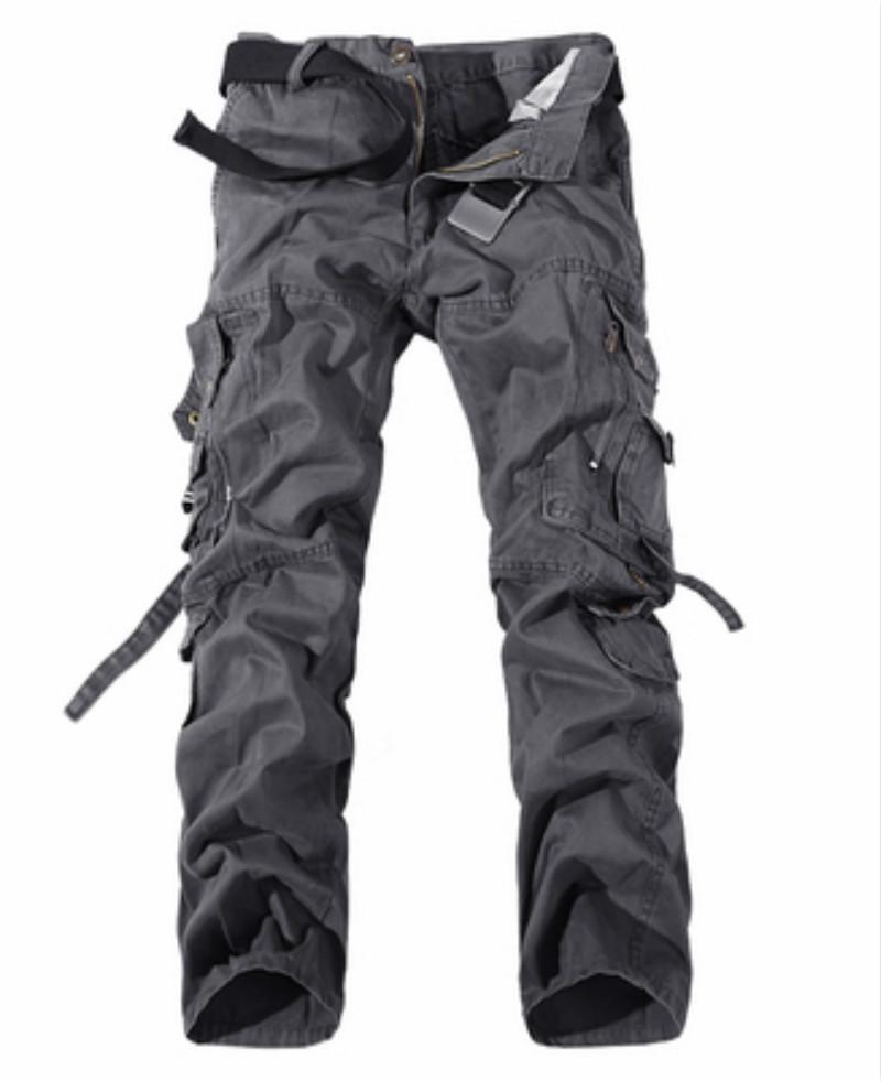 2020 남자 옷 전술상 화물 바지 남자 전투 육군 군 바지 면 많은 주머니 뻗기 가동 가능한 남자 우연한 바지 T200417