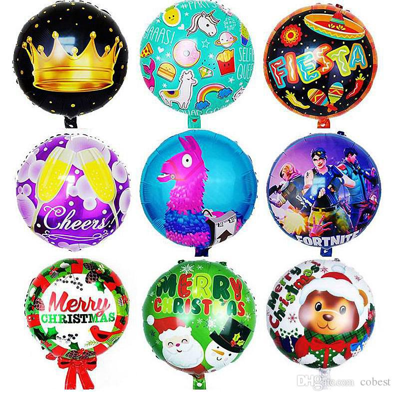 Aluminum Foil Balloons Kids Toys 18 Inch Inflatable Boys Girls Christmas Party Balloon Decorations Toys Gifts Balloons Kids