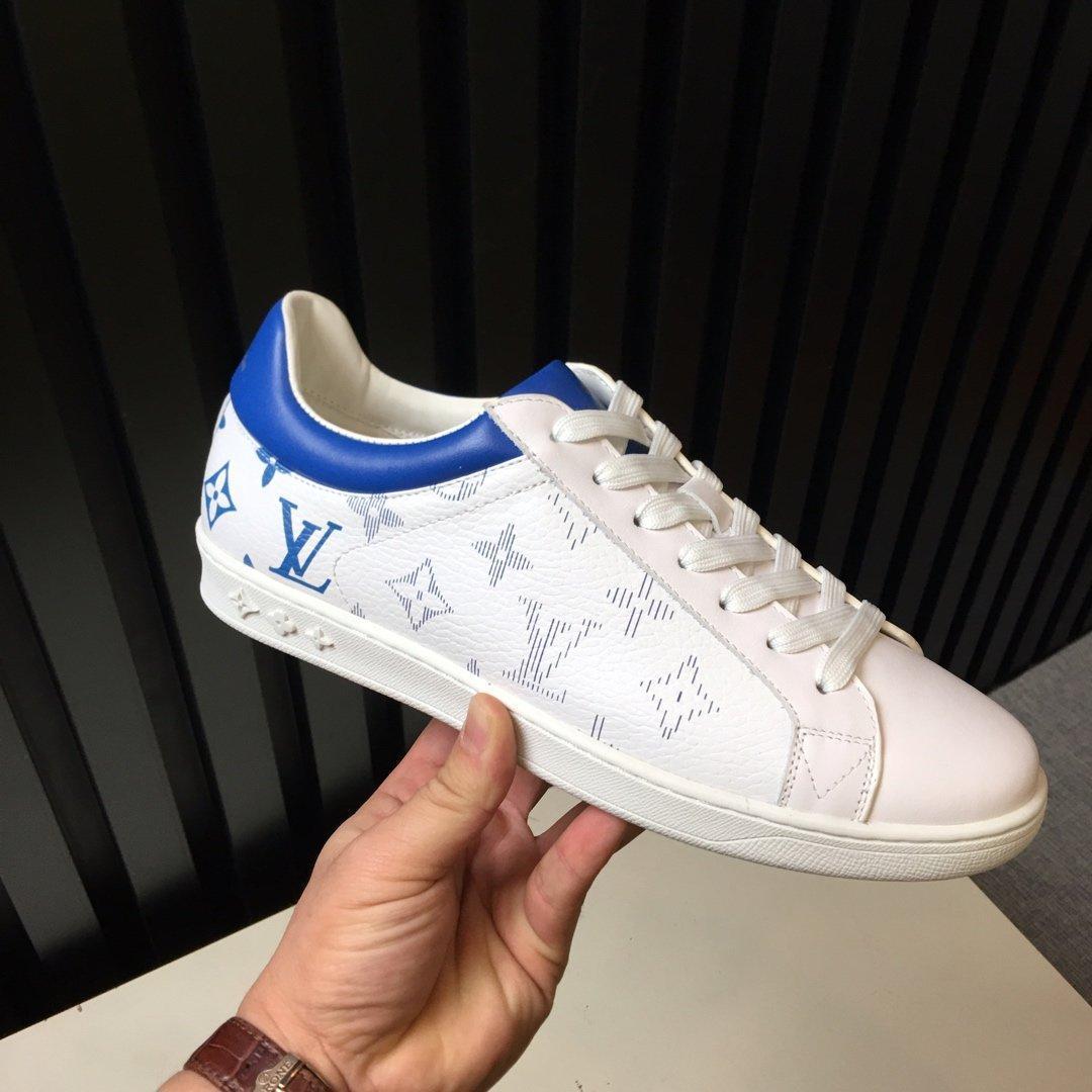 scarpe per il tempo libero Moda uomo cuoio genuino di formatori classiche di primavera colore sfumato e cadono Designers sneakers con scatola