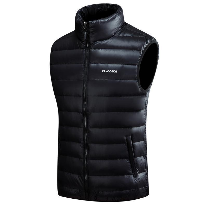 Sıcak Yelek Artı boyutu S-5XL Palto Erkekler Down Yelek 4 Renk Kalın ceketler Yelek Erkek Moda Kolsuz Katı Fermuar Coat