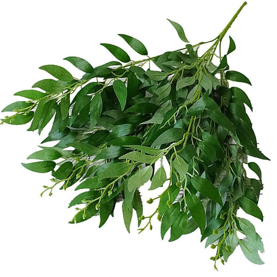folhas artificiais falso bouquet salgueiro selva casamento cenário decoração do Natal faux folhagem partido casa decoração planta Xmas Entrega grátis