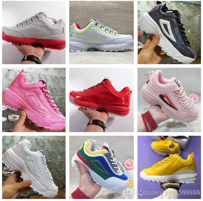2019 neuer Marken-Designer Sportschuh für Männer Frauen weißen kühlen Luxus Outdoor Vintage-Disruptoren II 2 Clunky Sneaker Männer plus Größe 36-45