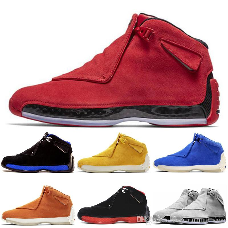 Новые кроссовки мужские 18 18s баскетбольные кроссовки Cool Grey Sport Royal-черный Sport Royal-белые спортивные кроссовки Toro дизайнер на открытом воздухе