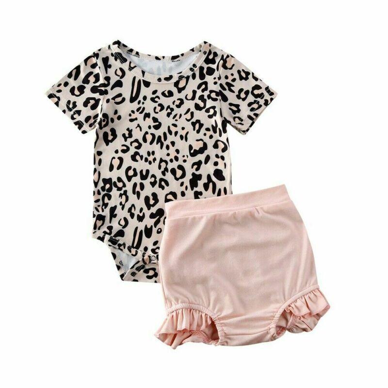 2020 Roupas Recém-Nascidas Criança Roupa De Leopardo Calções Roupa De Cama Roupa De Verão Roupa De Verão