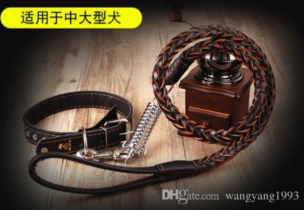 Manufatto per cani da passeggio per cani da passeggio in cuoio con colletto classico serie modello CW00800205