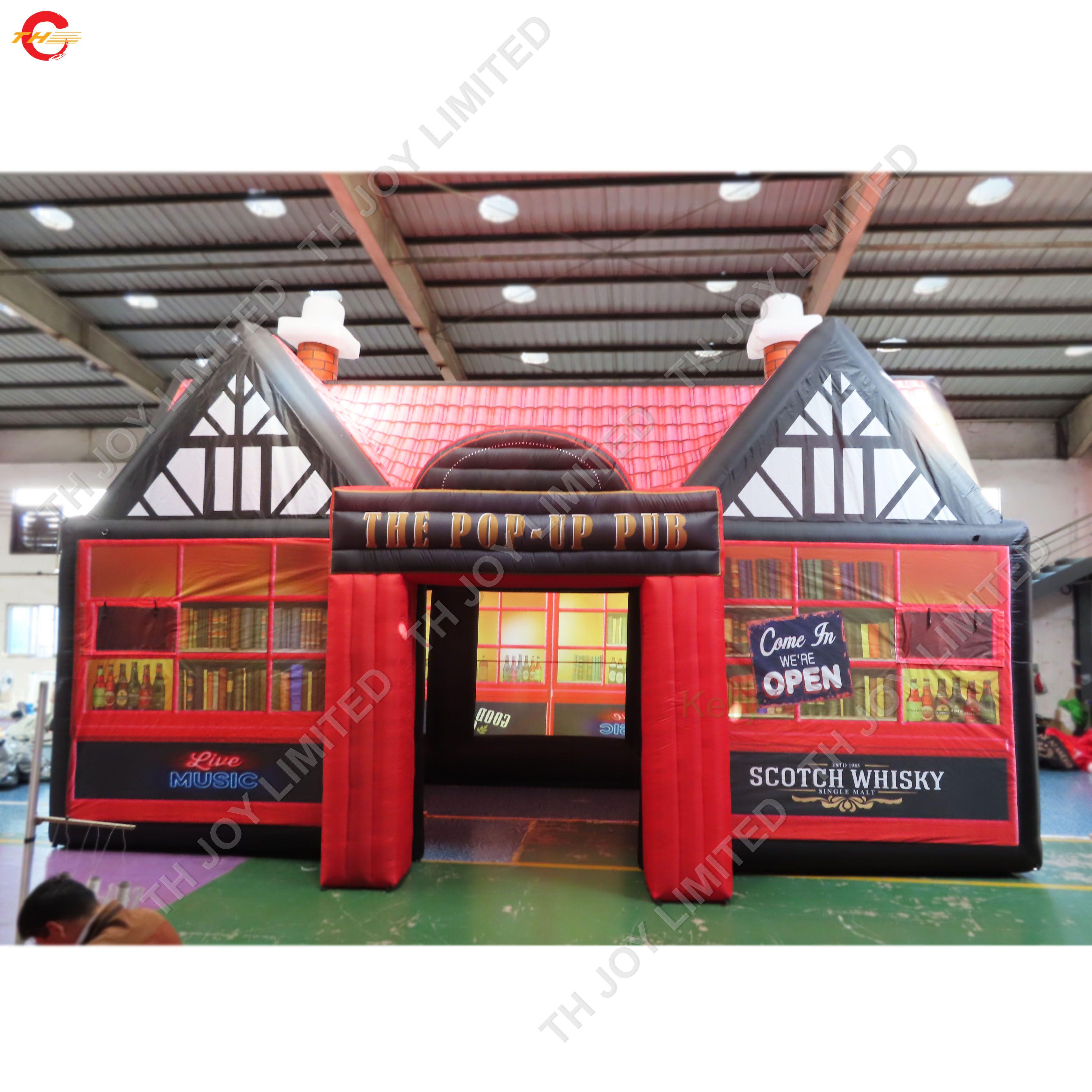 10x5x5mH fait sur mesure géant tente gonflable pub bar gonflable irlandais tente pour les événements de fête en plein air location de tentes portables de pelouse gonflables