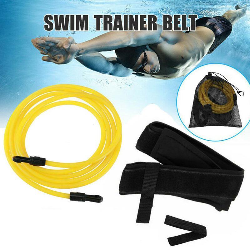 Ое плавать сопротивление Tether бассейн плавать Обучение Ремни Harness Статической Плавание Банджа Пояс для стационарного обучение Сопротивления