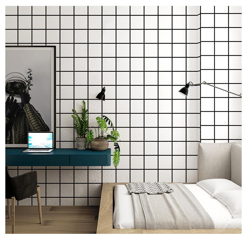 Nordic Geometric 3d Wall Papers Black And White Grid Pvc Vinyl Wallpaper Roll 3d For Living Room Background Free 3d Wallpaper Free 3d Wallpapers From Nmm367 21 63 Dhgate Com