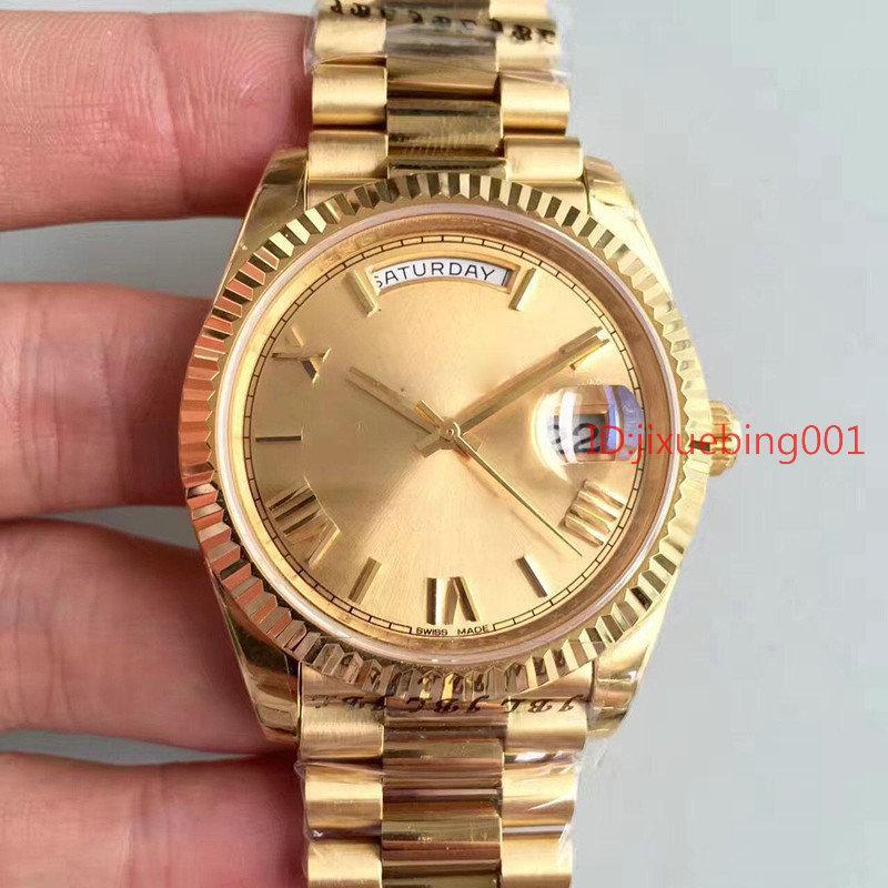 2019 homens do relógio mecânico automático relógios homens Sapphire fivela de aço relógios originais RELÓGIO 36MM colock Ouro 18K inoxidável
