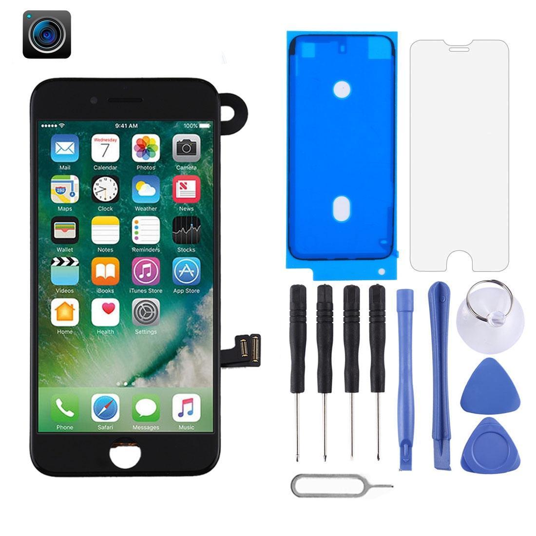 Nuovo schermo a cristalli liquidi di arrivo e Digitizer Assemblea completa includono fotocamera frontale per iPhone 7